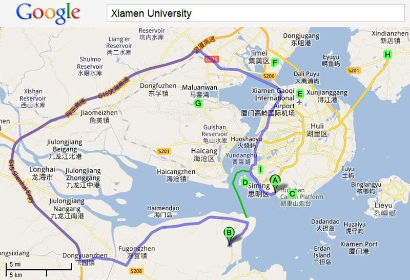 Map Xiamen.China Maps